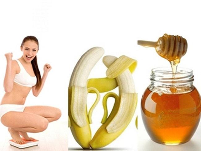Mật ong ăn với chuối giúp giảm cân hiệu quả